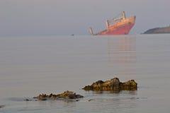 Het wrak van het schip Royalty-vrije Stock Foto's