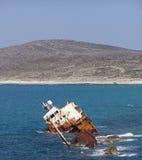 Het wrak van het schip Stock Foto