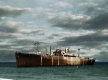 Het wrak van het schip royalty-vrije stock afbeeldingen