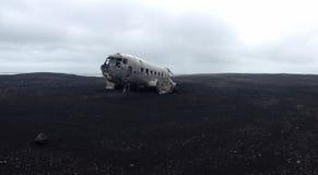 Het Wrak van het Solheimasandurvliegtuig royalty-vrije stock foto's