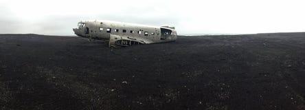 Het Wrak van het Solheimasandurvliegtuig stock fotografie
