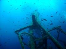 Het wrak - vissen Stock Foto