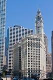 Het Wrigley Gebouw in Chicago Stock Foto