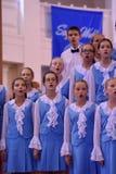 Het XIV Internationale Festival van Koorart singing world Kathedraal van Heiligen Peter en Paul royalty-vrije stock fotografie