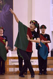 Het XIV Internationale Festival van Koorart singing world Kathedraal van Heiligen Peter en Paul royalty-vrije stock foto's