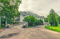 Het Yelagin-paleis bij het Yelagin-park Stock Afbeelding