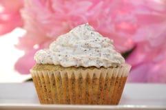Het Zaad Cupcake van de Papaver van de citroen Royalty-vrije Stock Afbeeldingen