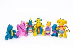 Is het zachte speelgoed van kinderen het geïsoleerd op het wit Royalty-vrije Stock Afbeeldingen