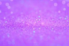 Het zachte violette of purpere bokehlicht is de zachte vage cirkels van Stock Afbeeldingen