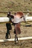 Het zadel van het paard stock fotografie
