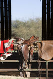 Het Zadel van het paard Stock Afbeelding