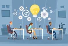 Het zakenlui groepeert Werkend Creatief Team Stock Fotografie
