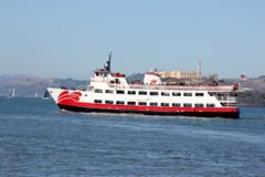 Het Zalophuspassagiersschip Rode en Witte Vloot, capaciteit van 600 passagiers die voor gezicht, twee behandelde dekken en hoogst stock afbeelding