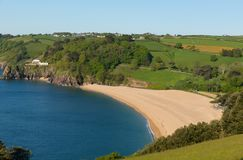 Het Zand Devon England het UK van Blackpool dichtbij het Zand van Dartmouth en Slapton- royalty-vrije stock foto