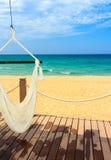 Het zand en de ontspanning van de zon Stock Fotografie