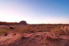 Het zand ontmoet hemel Royalty-vrije Stock Foto
