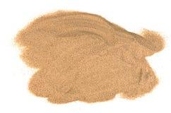 Het zand op witte achtergrond Stock Foto