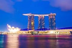 Het Zand van de Baai van de jachthaven in Singapore Royalty-vrije Stock Afbeeldingen