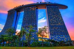 Het Zand van de Baai van de jachthaven, Singapore Royalty-vrije Stock Foto