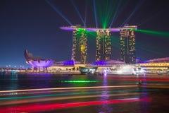 Het Zand van de Baai van de jachthaven, Singapore Royalty-vrije Stock Fotografie