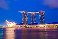 Het Zand van de Baai van de jachthaven, Singapore Stock Fotografie