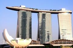 Het Zand van de Baai van de jachthaven, Singapore royalty-vrije stock afbeeldingen