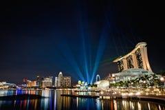 Het Zand van de Baai van de Jachthaven van Singapore Stock Afbeelding