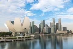Het ZAND van de JACHTHAVENbaai, SINGAPORE - Mei 24, 2017: ArtSciencemuseum binnen Royalty-vrije Stock Afbeelding