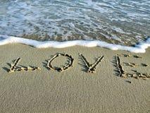 Het zand van de liefde Royalty-vrije Stock Afbeeldingen