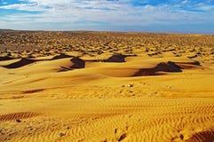 Het zand van de Sahara Stock Foto