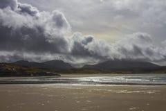 Het Zand van de Uigbaai, Eiland van Lewis stock afbeeldingen