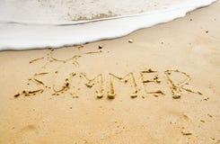 Het zand van de zomer Royalty-vrije Stock Fotografie