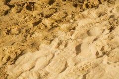 Het zand van het strand Stock Foto's