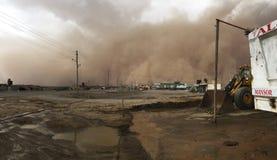 Het zand van het woestijnonweer stock fotografie