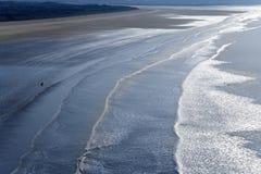 Het zand van Saunton Stock Foto's