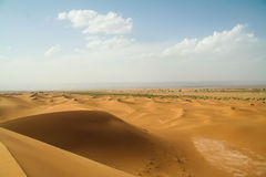 Het zandduin van de landschaps marroc woestijn Stock Foto