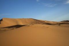 Het zandduinen van de Sahara Royalty-vrije Stock Afbeeldingen