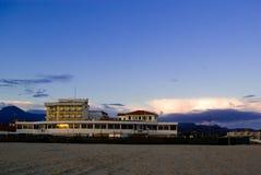 Het zandige strand van Viareggio, Stock Foto