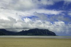 Het zandstaaf van de Baai van Kane'ohe Royalty-vrije Stock Fotografie