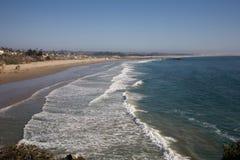Het zandstrand van Californië stock afbeeldingen