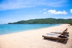Het zandstrand van Kuta, Lombok, Indonesië royalty-vrije stock afbeeldingen