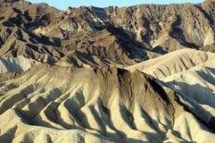 Het zandwervelingen van de Vallei van de dood royalty-vrije stock foto's