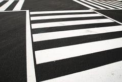 Het zebrapad Stock Afbeeldingen