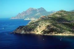 Het zeegezicht van Corsica Stock Foto