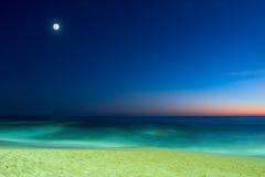 Het zeegezicht van de avond Stock Foto