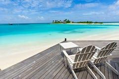 Het zeegezicht van de Maldiven Stock Fotografie