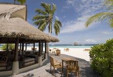 Het zeegezicht van de Maldiven Stock Foto