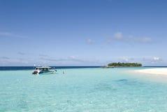 Het zeegezicht van de Maldiven Stock Afbeelding