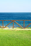 Het zeegezicht van de zomer Royalty-vrije Stock Afbeeldingen