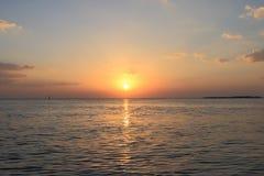 Het zeegezicht van de zonsopgang Royalty-vrije Stock Foto